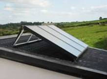 barryroe co-op solar panel water heating milking parlour